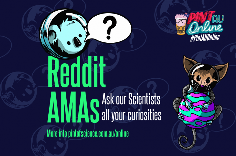 Reddit AMA banner - ask our scientists all your curiosities